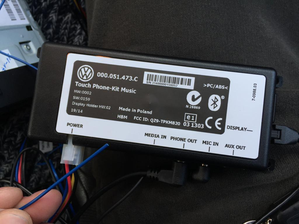 help required with vw bluetooth kit ignition