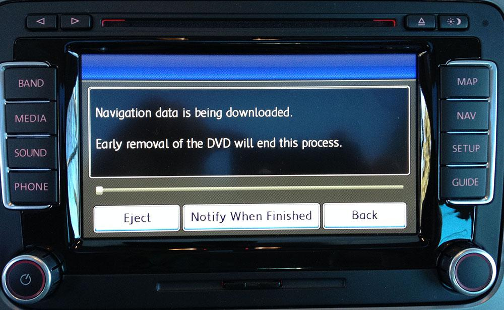 rns510 navigation not starting from HDD keep asking for DVD v13