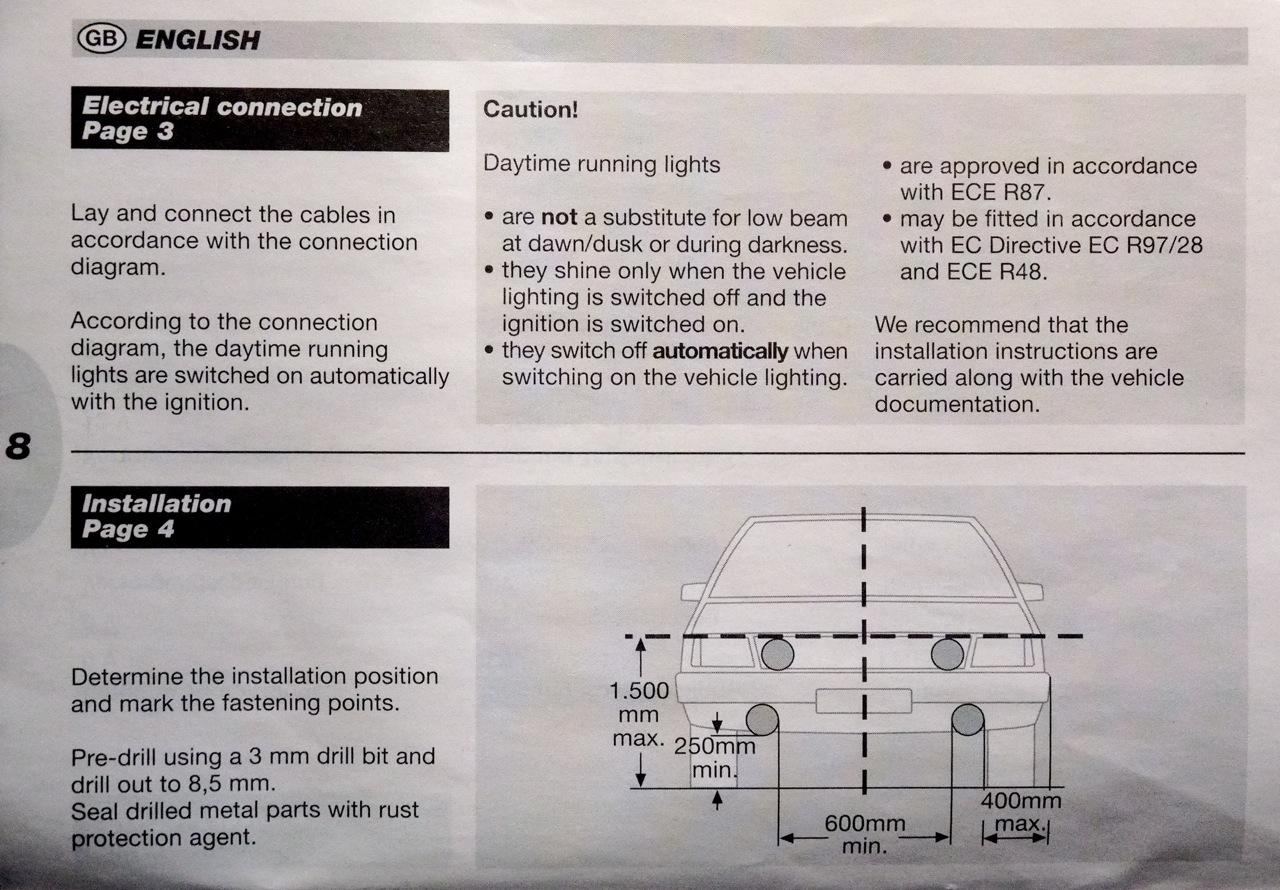 Hella Daytime Running Light Leds Page 1 Product Reviews Lights Wiring Instructions Also The Drls Are Not A Projected Beam Like Fog And Passive Signal Which Doesnt Glare