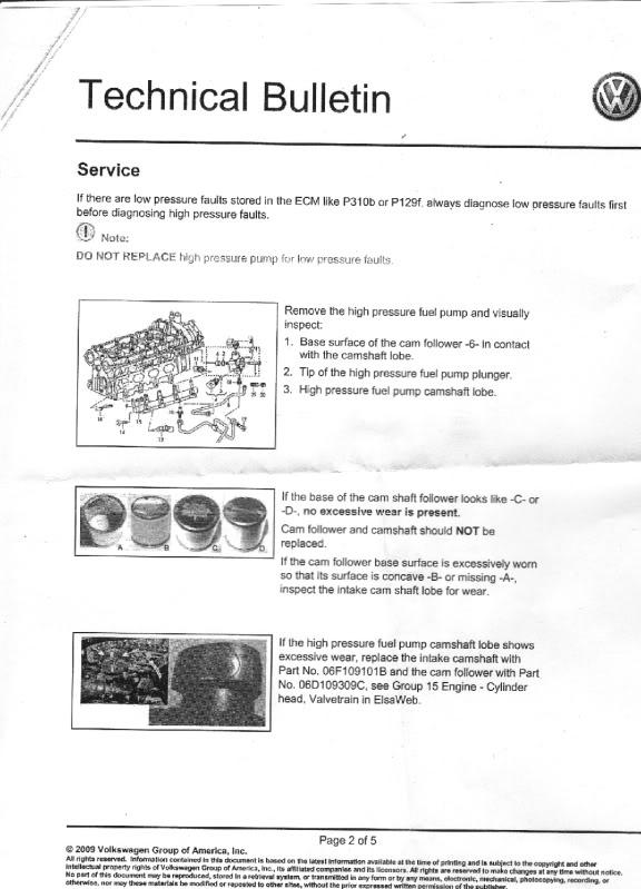Cam Follower Tech Bulletin Before You Go To The Dealer Read This