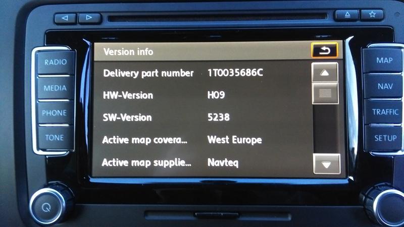 RNS510 secret menu info - Sat Nav and Car Audio - MK5 Golf GTI