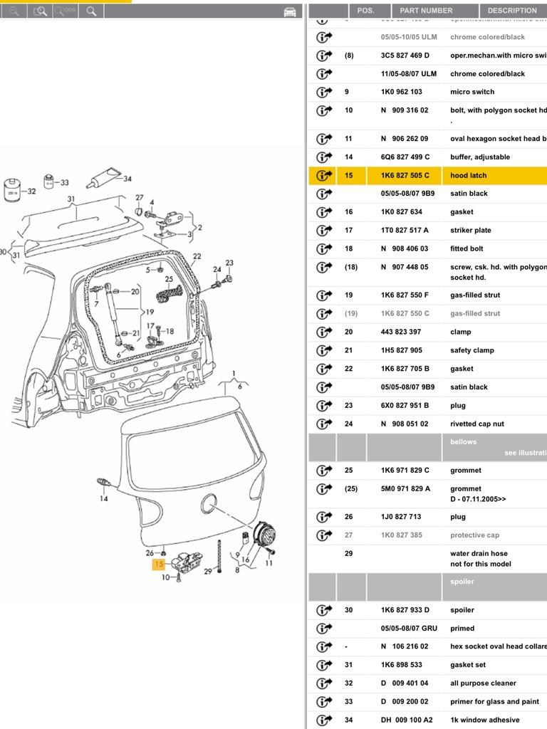 Boot Lock Rear Wiper Fog Light And Reverse All Not Seat Leon Central Locking Wiring Diagram Sure On Your Problem But Hope This Helps For Part Number