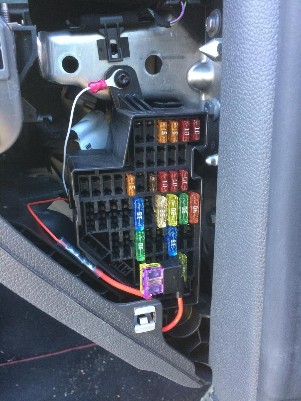 How To Centre Console Usb Port Guides Troubleshooting Skoda Octavia Fuse Box Location 4 Run The 12v Female Socket Through Side Of Your Dash Where Board Is And Just Guide It Towards On Bottom